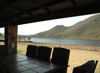 The patio has a built in braai and patio table and chairs providing the opportunity to have family meals enjoying the view.